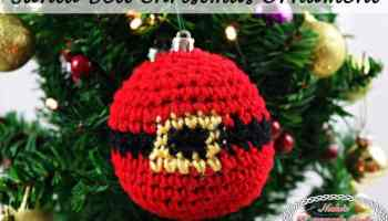 santa belt christmas ornament free crochet pattern