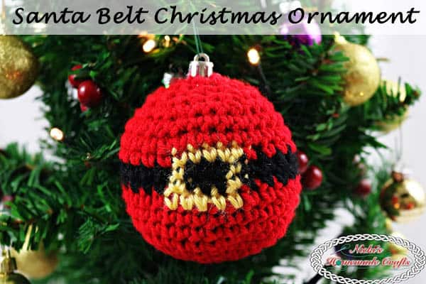 Santa Belt Christmas Ornament – Free Crochet Pattern