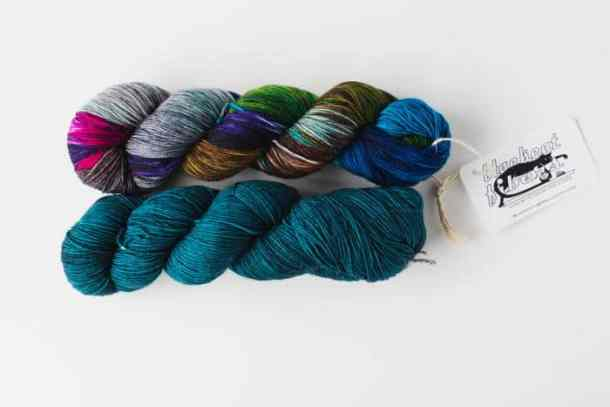 Nomad Sock is a fabulously soft yarn made of 75% superwash merino and 25% nylon fibers, making this 4-ply fingering yarn