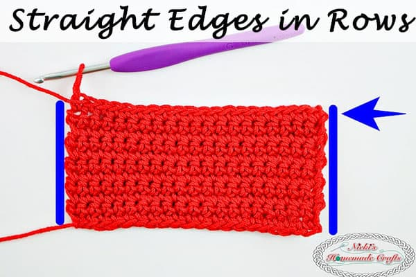 How to Always Crochet Straight Edges in Rows – Photo and Video Tutorial