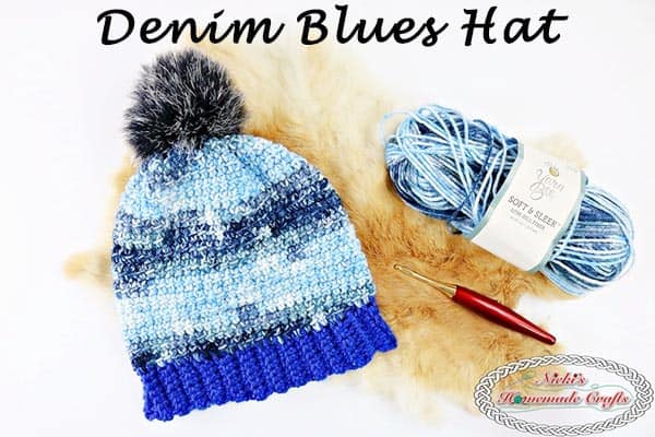 Denim Blues Hat – Free Crochet Pattern
