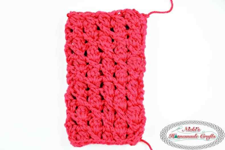 Lacy Silk Fingerless Gloves using the Cluster in a Slant Stitch Pattern - Free Crochet Pattern by Nicki's Homemade Crafts #crochet #silk #lacy #fingerless #gloves #valentinesideas #diy #valentinesday #red #white #tutorial #video #easy #best