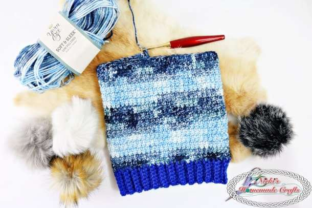 Making the Denim Blues Hat which is a Free Crochet Pattern by Nicki's Homemade Crafts