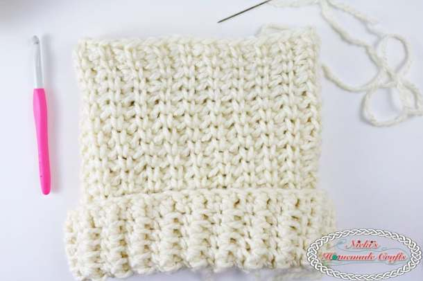 90efdbd33b0 Chunky Knit-Like Hat which is a Free Crochet Pattern by Nicki s Homemade  Crafts
