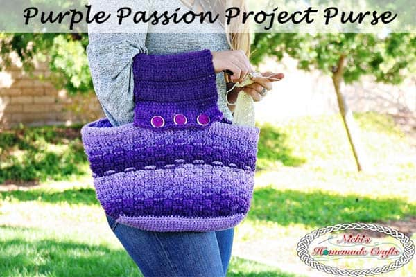 Purple Passion Project Purse Crochet Along Nickis Homemade Crafts