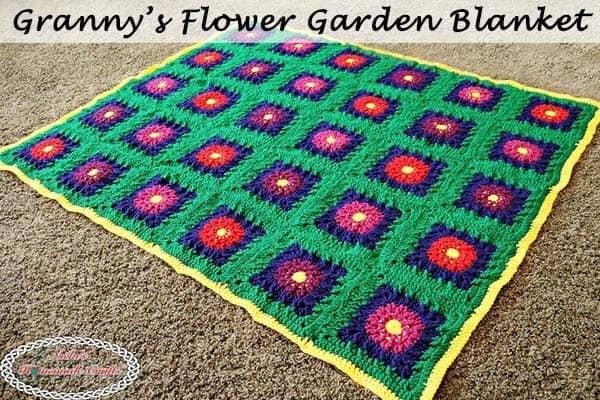 Granny's Flower Garden Blanket – Part 4