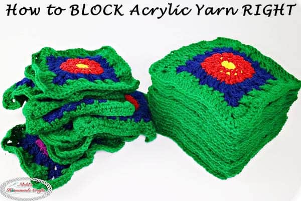 How to block Acrylic Yarn using Steam & a Blocking Board