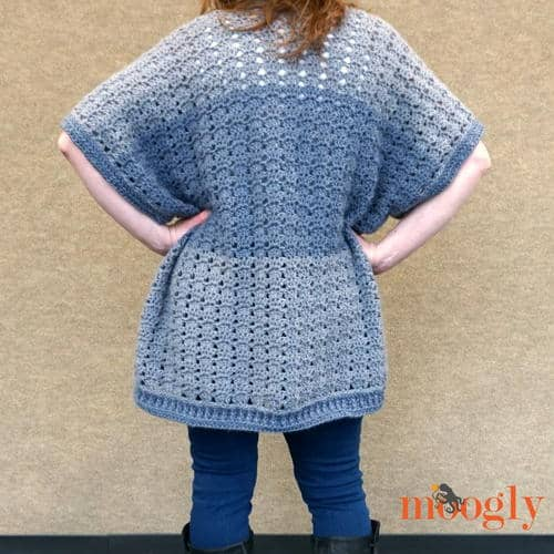 Grey Blue Cardigan which is part of a collection including 10 Free Crochet Cardigan Patterns all from AllFreeCrochet compiled by Nicki's Homemade Crafts - Crochet Cardigan, Crochet Jacket, Crochet Sweater, Crochet Wrap, Crochet Shawl