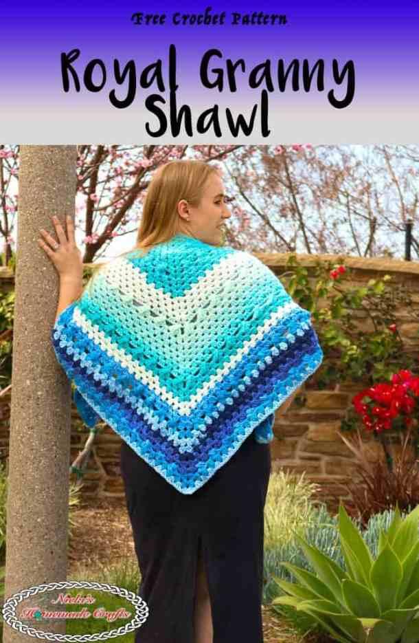 Simple Crochet Royal Granny Shawl Free Pattern Nickis Homemade