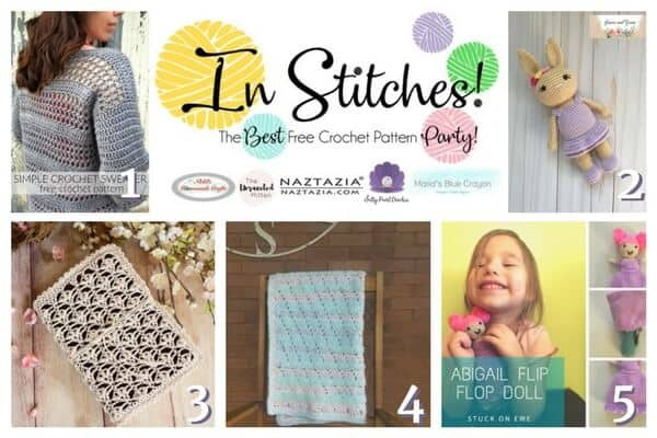 In Stitches - Best Free Crochet Pattern Party 8 - book cover, bible, amigurumi, bunny, blanket, sweater, free crochet pattern, link up party