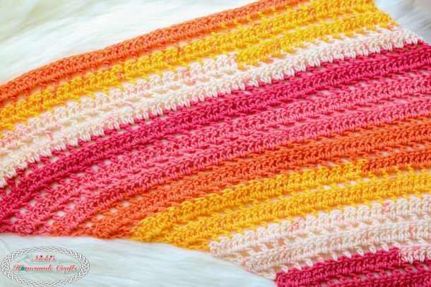 Double Crochet Sunset Scarf