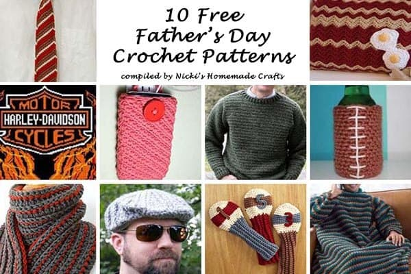 10 Free Father's Day Crochet Patterns