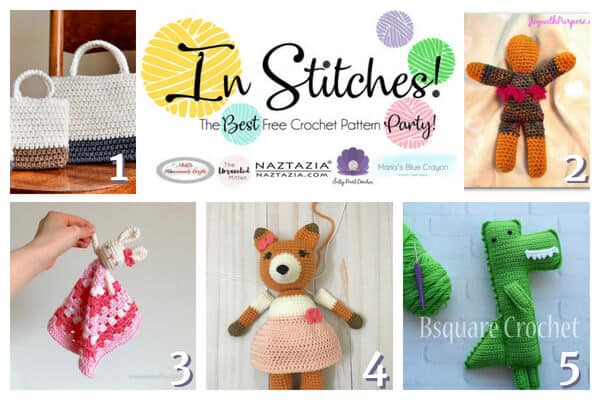 In Stitches - Best Free Crochet Pattern Party for baby stuffed animals and bags