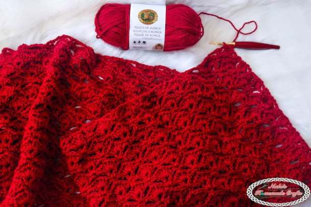 Touch of Alpaca yarn using Faintail stitch