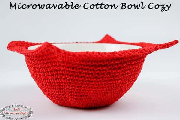Microwavable Cotton soup Bowl Cozy Crochet pattern