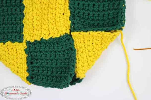 Mystery CAL Part 3 Yellow and green bag