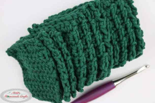 Mystery Crochet Along Part 2 green squares stack sideways