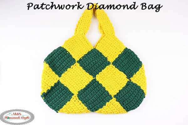 Free Crochet Pattern Patchwork Diamond Bag