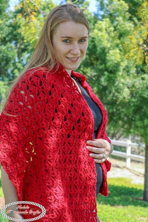 romantic crochet wrap pattern for free