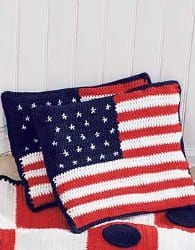 Stars and Stripes Cushion for 4th of July - American Flag