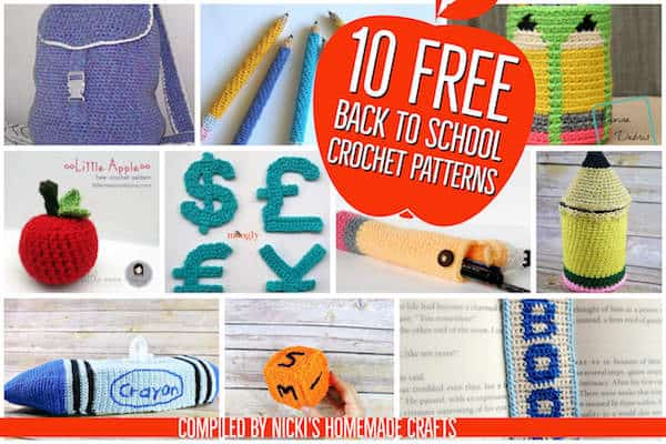 back to school free crochet pattern roundup collection