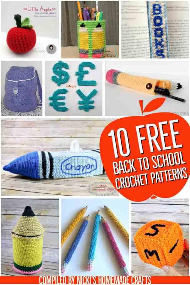 10 Free Crochet Pattern for Back to School