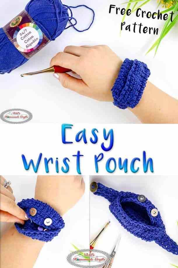 Easy Wrist Pouch - Free Crochet Pattern