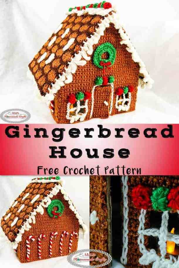 Gingerbread House Free Crochet Pattern