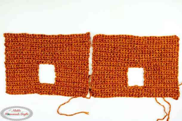 Blocked Side of the Gingerbread House crocheted