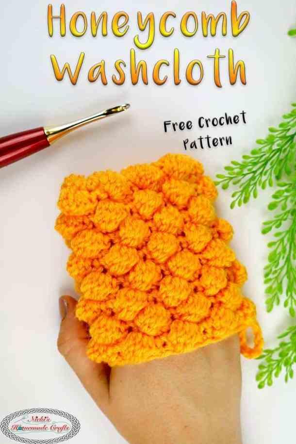 Honeycomb Washcloth Free Crochet Pattern