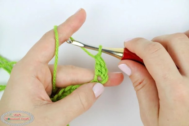 double crochet tutorial steps