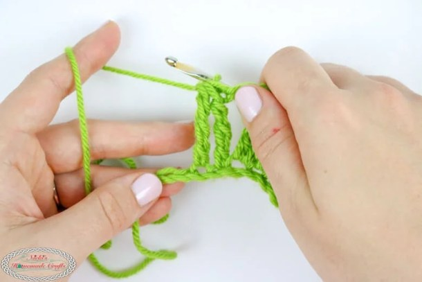 Double Treble Crochet Decrease