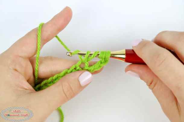 Next step of the Double Treble Crochet