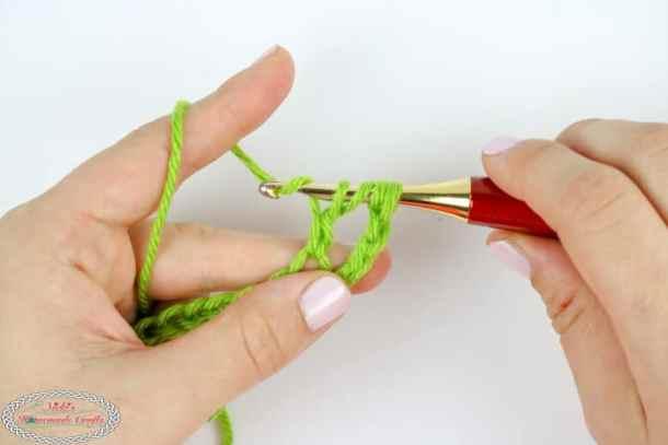 Double Treble Crochet Tutorial step