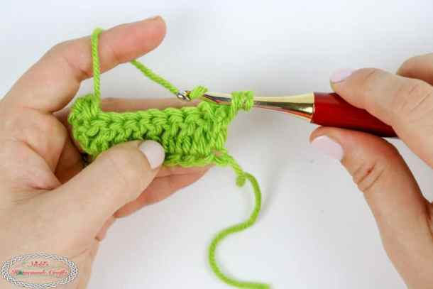 front post stitch for a double crochet