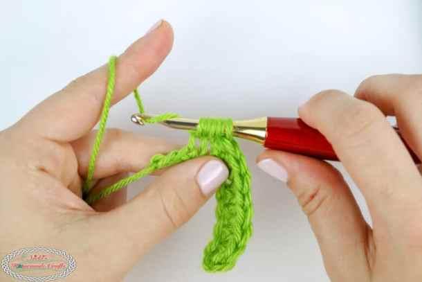 Half Double Crochet decrease (hdc dec)