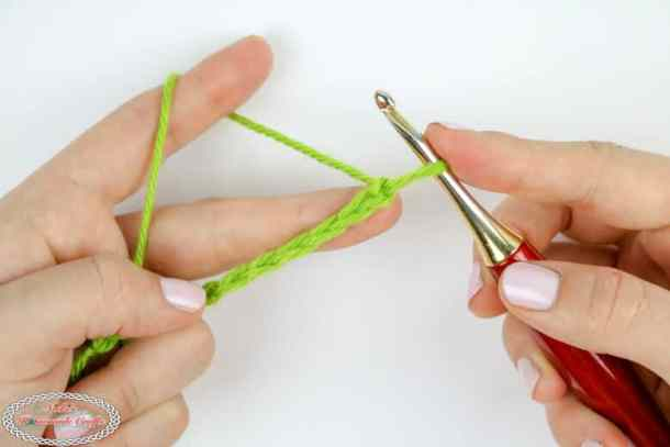 Chain to make a single crochet