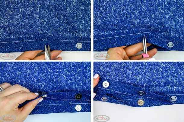 Simple Summer Crochet Bag - adding the magnetic snaps