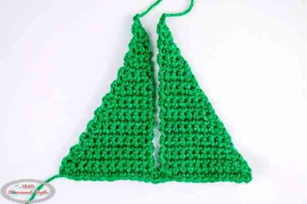 Crocheting foldable Christmas Tree