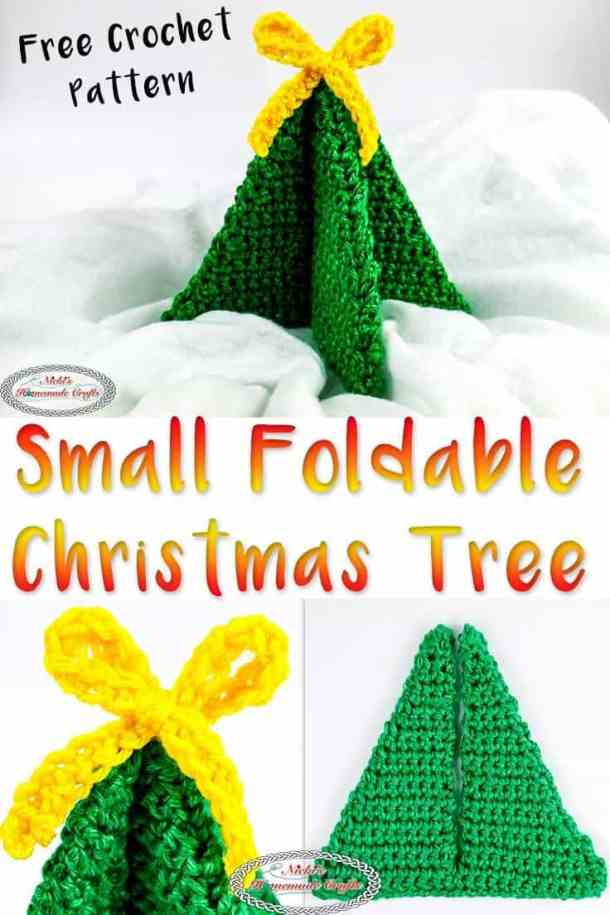 Small Foldable Christmas Tree for Decoration - free crochet pattern