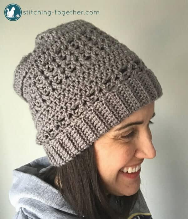 slouchy hat - popular free crochet pattern hat