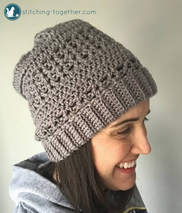 slouchy hat - popular free crochet pattern hat