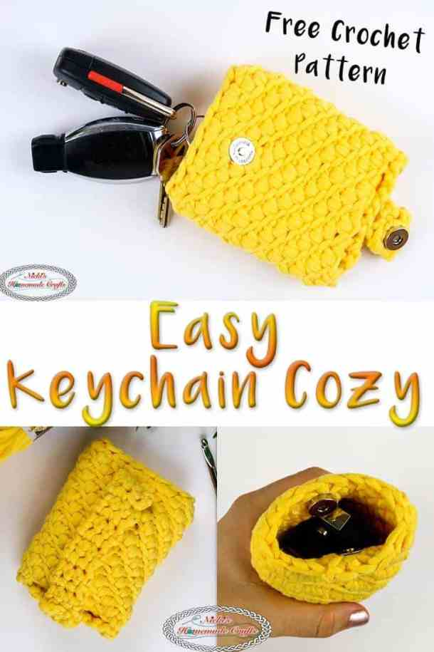 Easy Keychain Cozy - Free Crochet Pattern