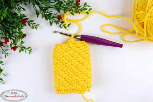Keychain Cozy crocheted with Turkish Star Stitch