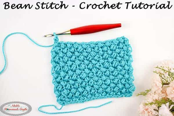 How to Crochet the Bean Stitch – Photo and Video Tutorial