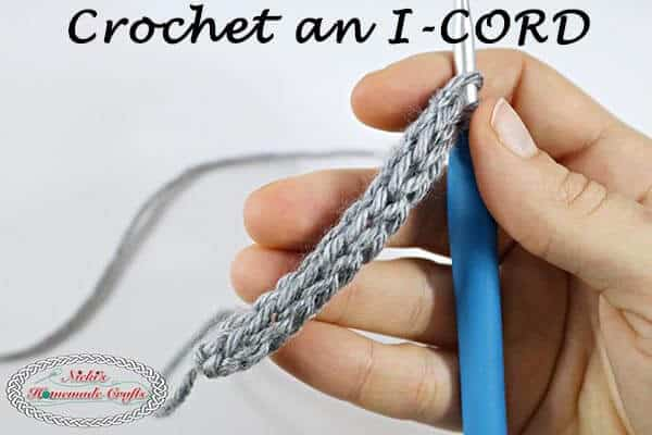 Crochet an I-cord Photo and Video Tutorial easy