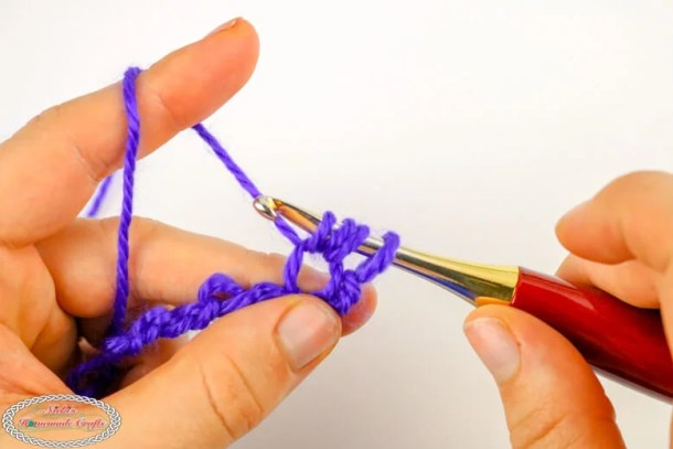 crochet the bean stitch loops