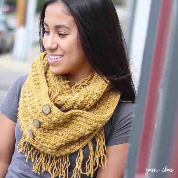 malia infinity scarf free crochet pattern