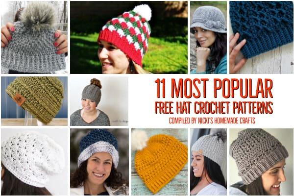 11 Most popular free crochet hat patterns