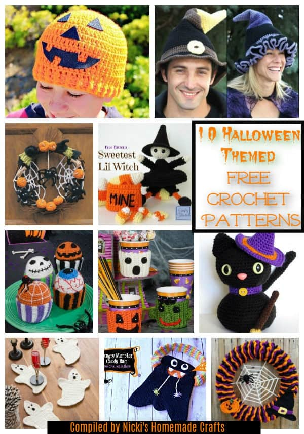 10 free crochet patterns halloween themed